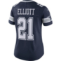 Dallas Cowboys Womens Ezekiel Elliott #21 Nike Navy Vapor Limited Jersey