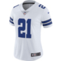 Dallas Cowboys Womens Ezekiel Elliott #21 Nike White Vapor Limited Jersey