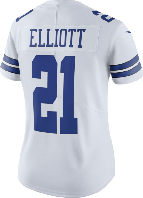 Dallas Cowboys Womens Ezekiel Elliott #21 Nike Vapor Untouchable White Limited Jersey