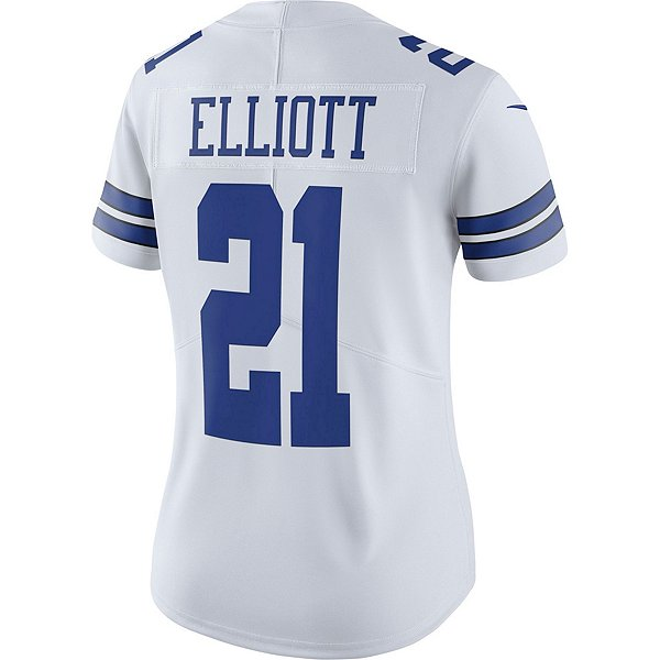 Dallas Cowboys Womens Ezekiel Elliott #21 Nike White Vapor Limited Jersey