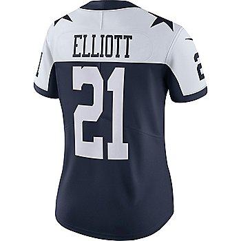 Dallas Cowboys Womens Ezekiel Elliott #21 Nike Vapor Limited Throwback Jersey