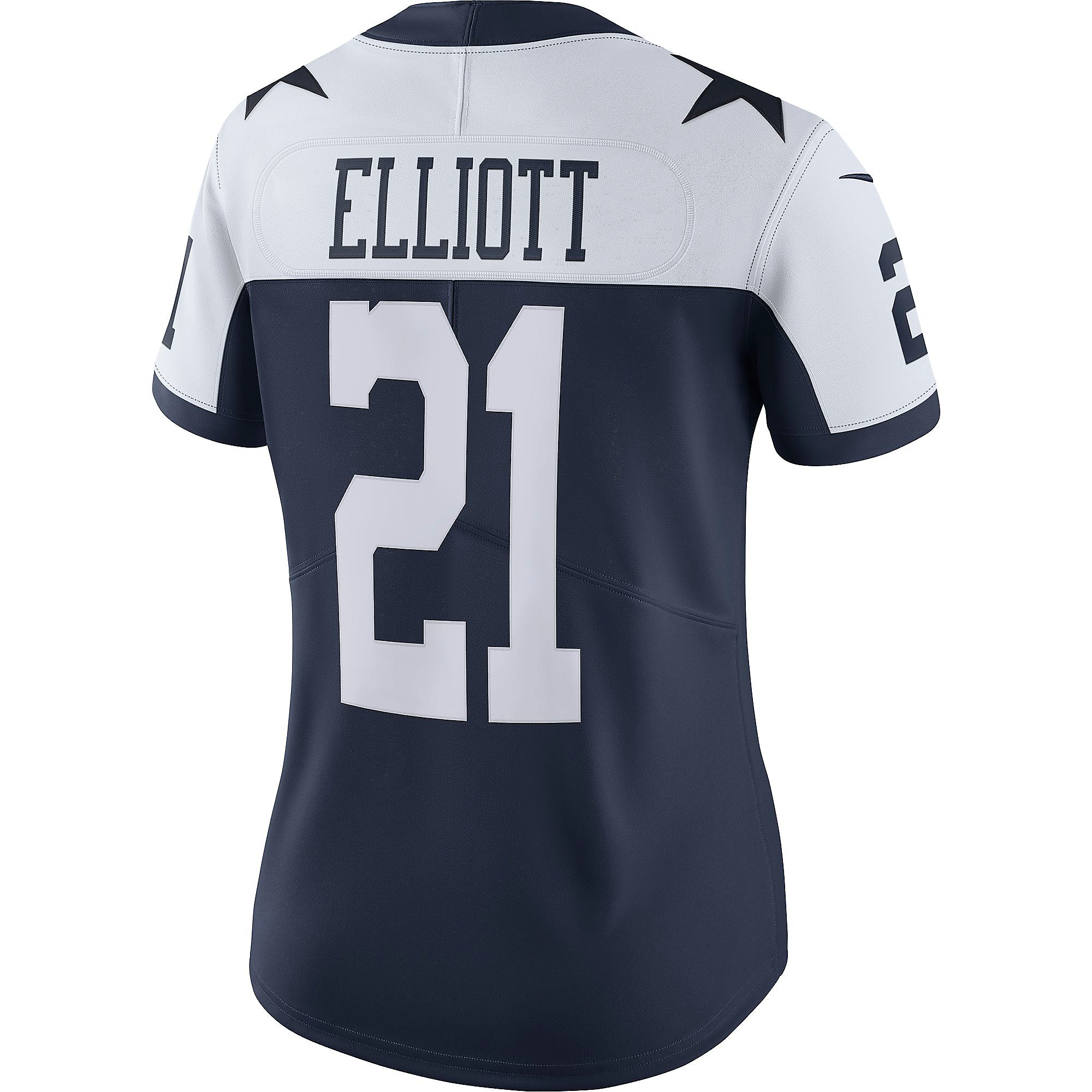 Dallas Cowboys Womens Ezekiel Elliott #21 Nike Vapor Limited Throwback Jersey