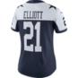 Dallas Cowboys Womens Ezekiel Elliott Nike Vapor Untouchable Limited Throwback Jersey