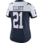 Dallas Cowboys Womens Ezekiel Elliott Nike Vapor Untouchable Limited Throwback Jersey