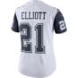 Dallas Cowboys Womens Ezekiel Elliott #21 Nike XC2 Color Rush Jersey