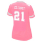 Dallas Cowboys Womens Ezekiel Elliott #21 Pink Jersey