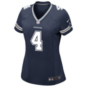 Dallas Cowboys Womens Dak Prescott #4 Nike Navy Game Replica Jersey