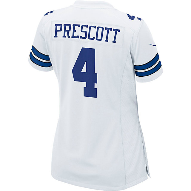Dallas Cowboys Womens Dak Prescott Nike White Game Replica Jersey