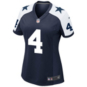 Dallas Cowboys Womens Dak Prescott Nike Game Replica Throwback Jersey