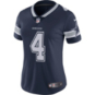 Dallas Cowboys Womens Dak Prescott #4 Nike Navy Vapor Untouchable Limited Jersey