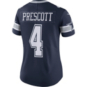 Dallas Cowboys Womens Dak Prescott #4 Nike Navy Vapor Limited Jersey