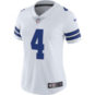 Dallas Cowboys Womens Dak Prescott #4 Nike Vapor Untouchable White Limited Jersey