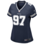 Dallas Cowboys Womens Taco Charlton Nike Navy Game Replica Jersey