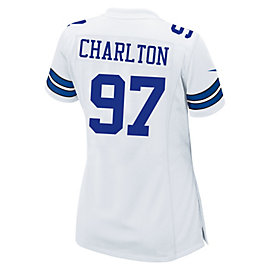 Dallas Cowboys Womens Taco Charlton Nike White Game Replica Jersey