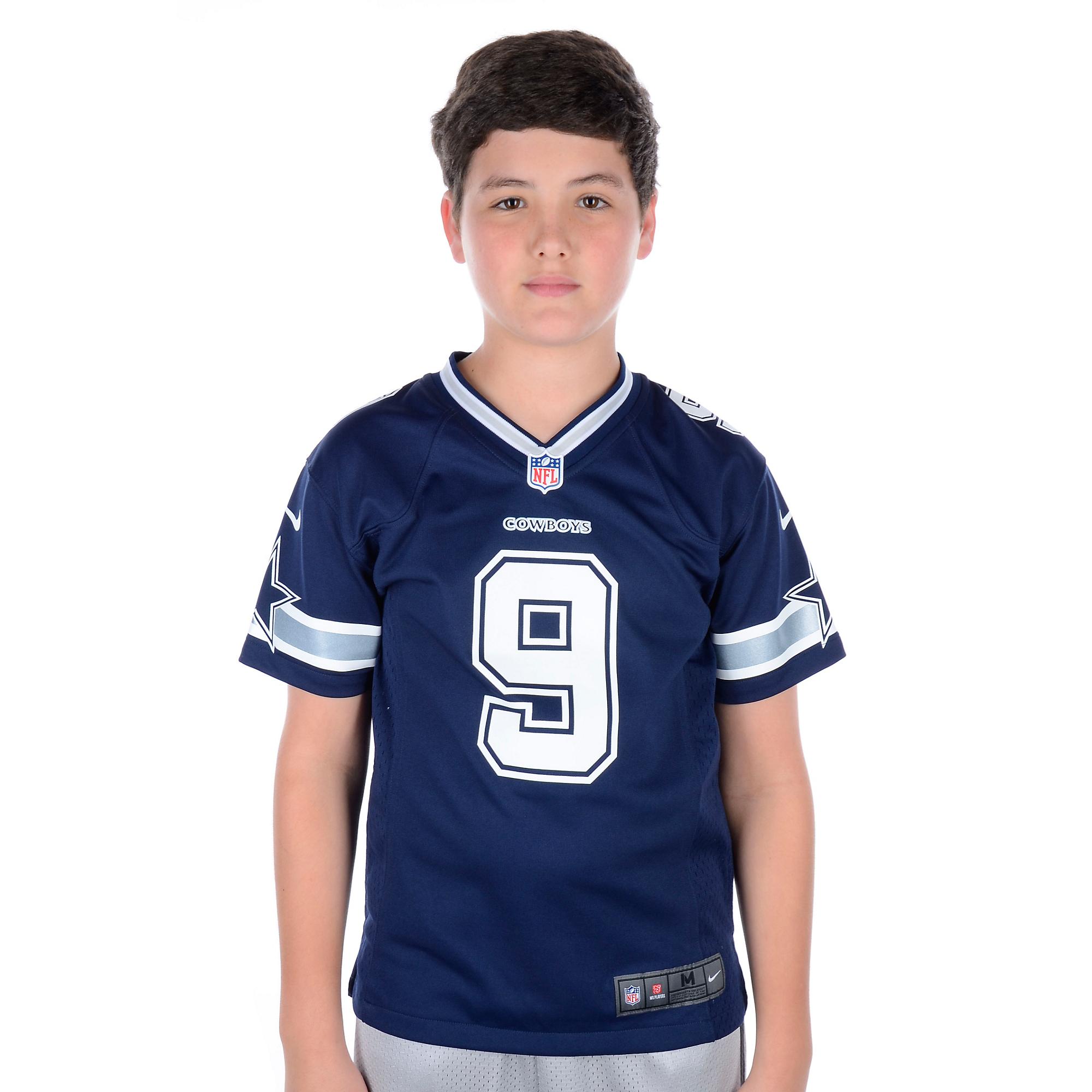 uk availability 0c11a 9e4f0 Dallas Cowboys Youth Tony Romo #9 Nike Game Replica Jersey