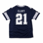 Dallas Cowboys Youth Ezekiel Elliott Nike Navy Game Replica Jersey