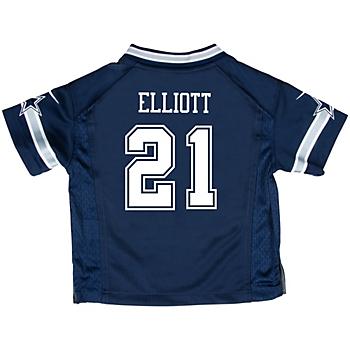 Dallas Cowboys Infant Ezekiel Elliott Nike Navy Game Replica Jersey
