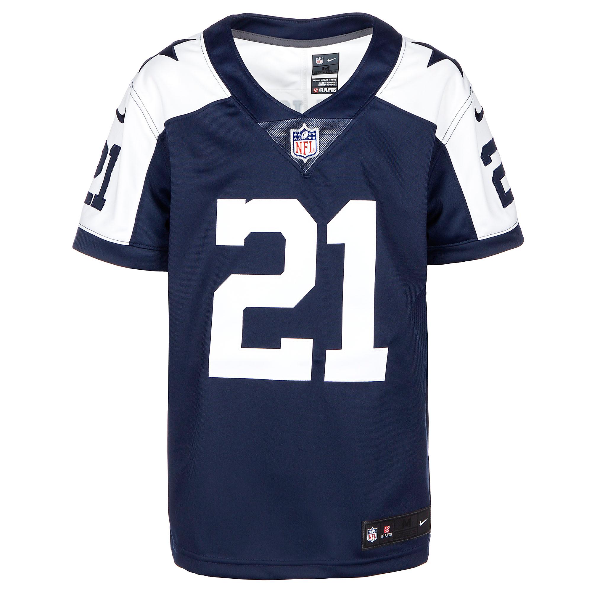new styles acbdf ad7a7 Dallas Cowboys Youth Ezekiel Elliott Nike Limited Throwback ...