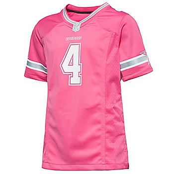 Dallas Cowboys Girls Dak Prescott #4 Nike Game Replica Jersey