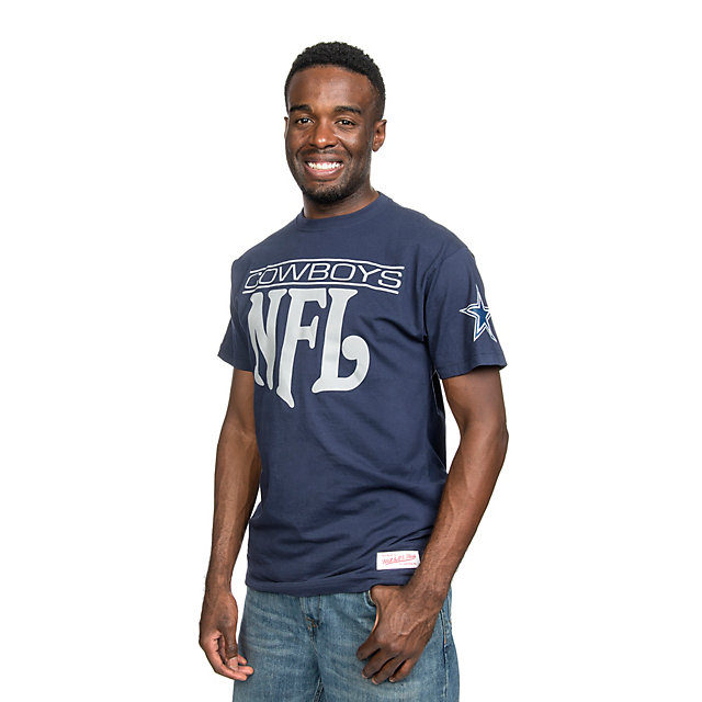Dallas Cowboys Mitchell & Ness Passing Yards Traditional Fit Tee