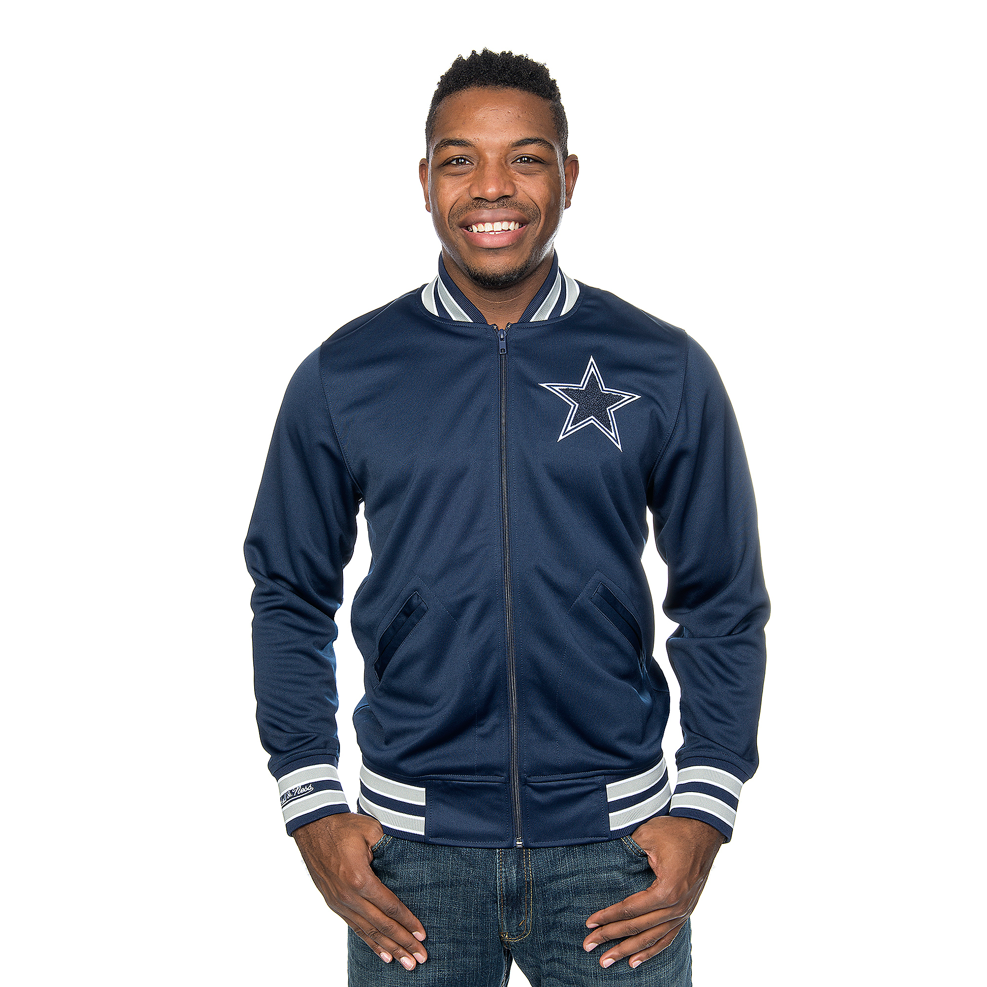 Dallas Cowboys Mitchell & Ness Division Track Jacket