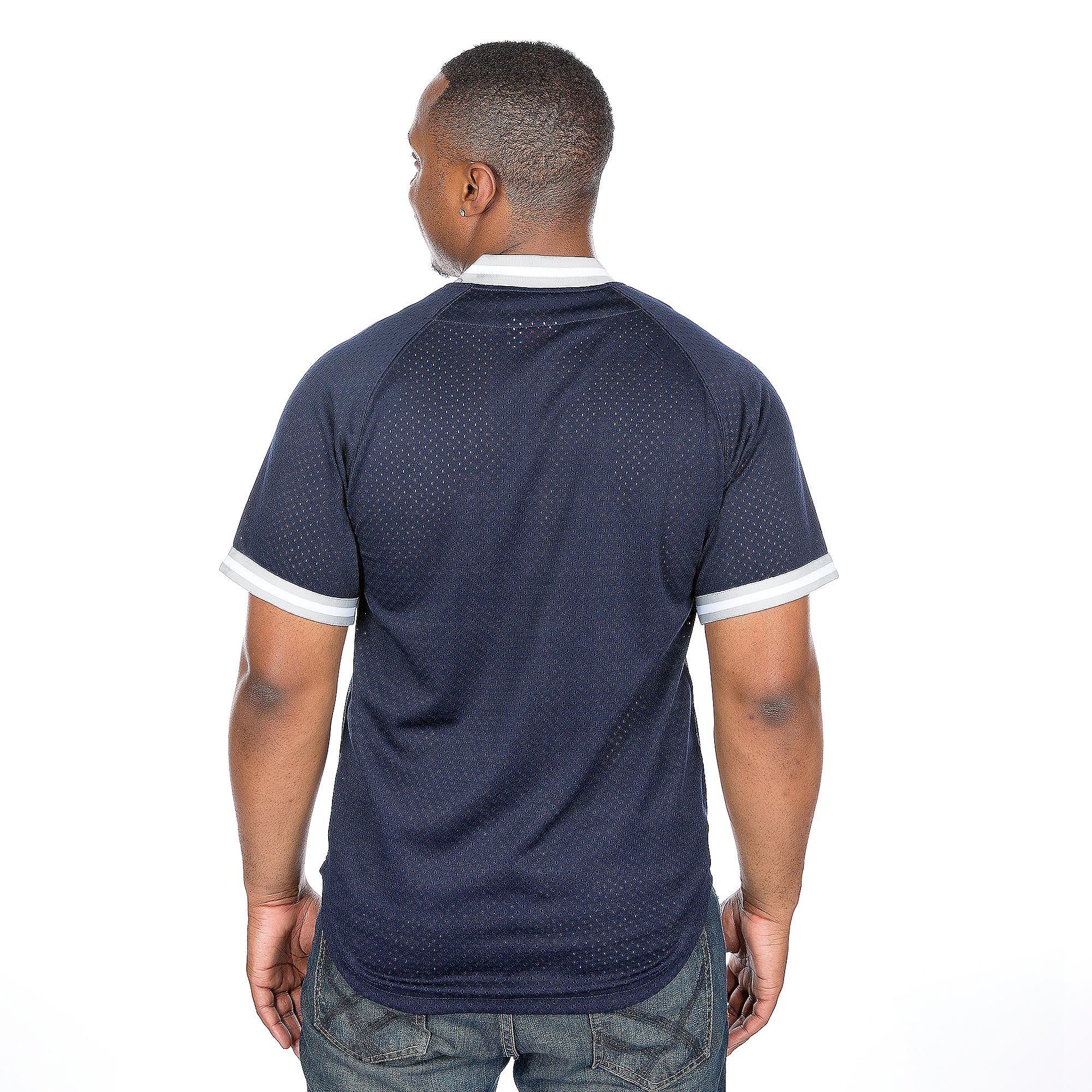 5d2a2f630 Dallas Cowboys Mitchell   Ness Seasoned Pro Mesh Button Front Vest ...