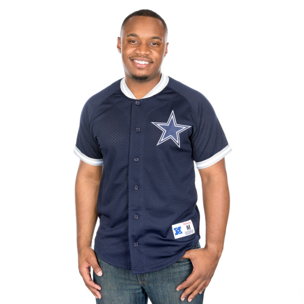 Dallas Cowboys Mitchell & Ness Seasoned Pro Mesh Button Front Vest