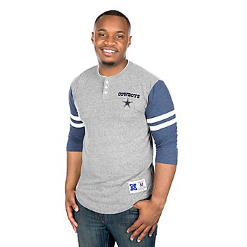 Dallas Cowboys Mitchell & Ness Home Stretch Henley Tee