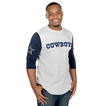 Dallas Cowboys Mitchell & Ness Scoring Position 3/4 Sleeve Tee