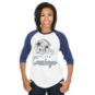 Dallas Cowboys Mitchell & Ness Womens Helmet Raglan Tee