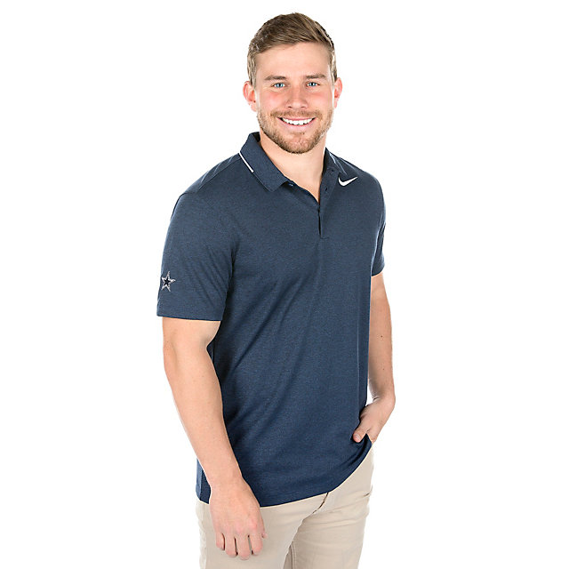 Dallas Cowboys Nike Breathe Heather Golf Polo