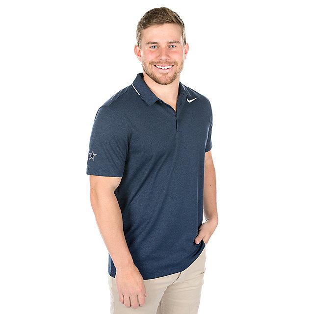 Dallas Cowboys Nike Breathe Heather Golf Polo