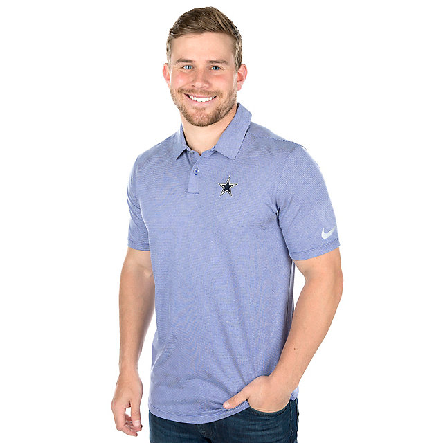 Dallas Cowboys Nike Dry Control Stripe Golf Polo