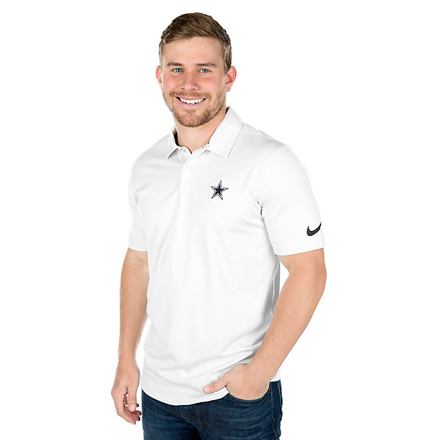 Dallas Cowboys Nike Dry Control Stripe Golf Polo