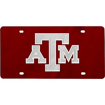 Texas A&M Aggies Color Mirror Logo License Plate