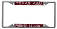 Texas A&M Aggies Acrylic Alumni Slogan License Plate Frame