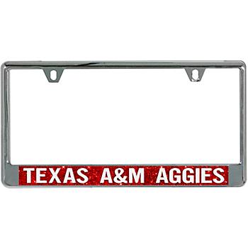 Texas A&M Aggies Acrylic Glitter License Plate Frame