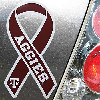 Texas A&M Aggies 5x7 Team Color Ribbon Magnet