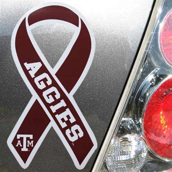 Texas A&M Aggies 5x7 Team Color Ribbon Magnet