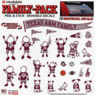 Texas A&M Aggies 12x12 Family Decals