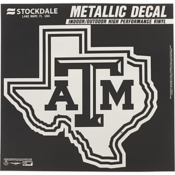 Texas A&M Aggies 12x12 Metallic Decal