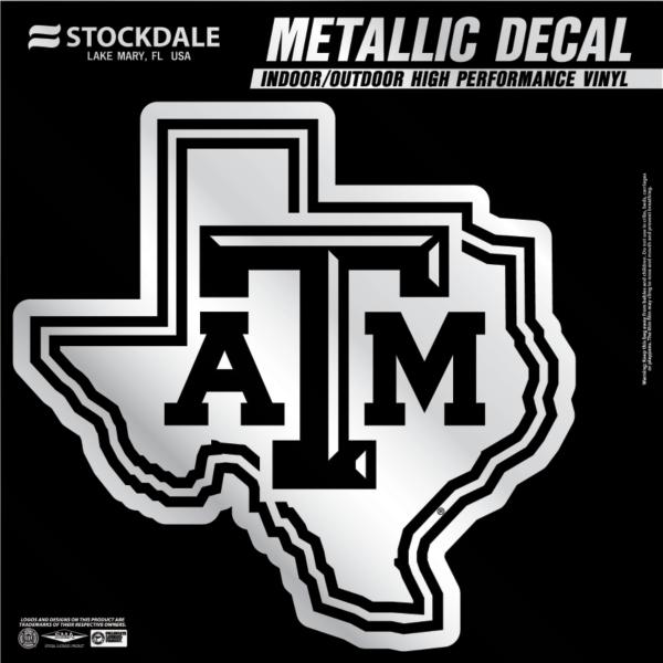 Texas A&M Aggies 6x6 Metallic Decal