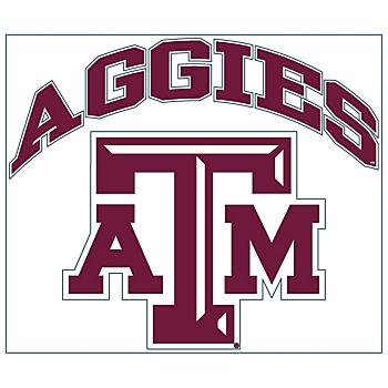 Texas A&M Aggies 8x8 Arched Logo Decal