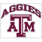 Texas A&M Aggies 8x8 Arched Logo Decal