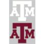 Texas A&M Aggies 2-Pack 3x7 White Logo Decal