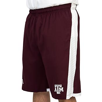 Texas A&M Aggies Adidas Single Stripe Performance Shorts