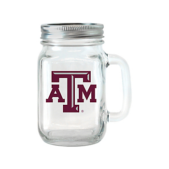 Texas A&M Aggies Glass Jar with Handle