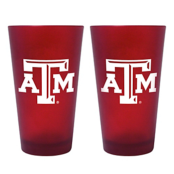 Texas A&M Aggies 16oz Color Frosted Pint