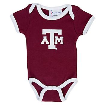 Texas A&M Aggies Lap Shoulder Ringer Romper
