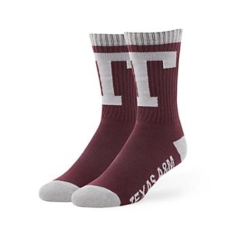 Texas A&M Aggies Maroon Bolt Sport Socks